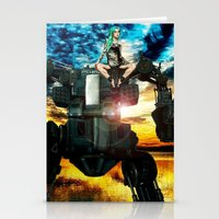 heavy metal Stationery Cards featuring Heavy Metal by Danielle Tanimura