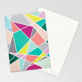 Geometric Spotlights Stationery Cards