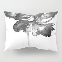 Flower, black and white Pillow Sham