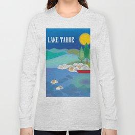 Lake Tahoe - Skyline Illustration by Loose Petals Long Sleeve T-shirt