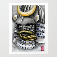 samurai Art Prints featuring Samurai by rchaem