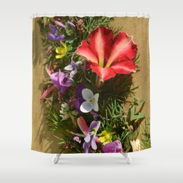Fall Flower Bounty Shower Curtain