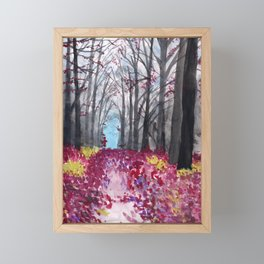Fallen Petal Forest Framed Mini Art Print