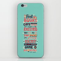 risa rodil iPhone & iPod Skins featuring Read Books by Risa Rodil