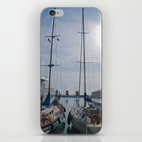 sailboat iPhone & iPod Skins featuring Sailboat by M. Gold Photography
