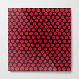 Red Apple Polka Dots Metal Print