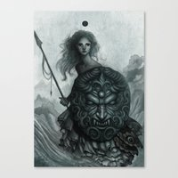 shield Canvas Prints featuring Shield by Caroline Jamhour
