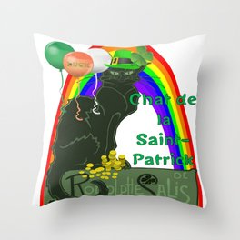 Chat De La St Patrick De Rodolphe Salis Throw Pillow