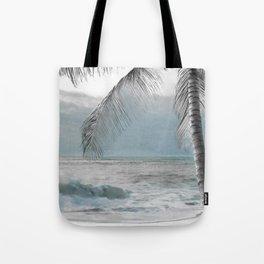 White Coconut Palm Tree Tote Bag