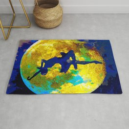BALLET DANCER AND THE MOON Rug