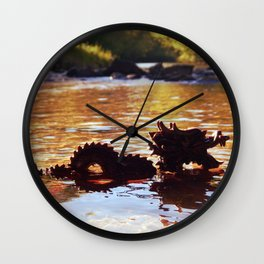 Ancient in the Water Wall Clock