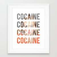 lindsay lohan Framed Art Prints featuring LINDSAY LOHAN - COCAINE by Beauty Killer Art