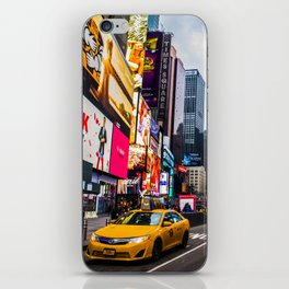 First light in Times Square iPhone Skin