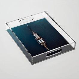 Sailing Ship in the Ocean Acrylic Tray