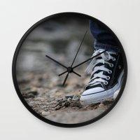 converse Wall Clocks featuring Converse by AJ Calhoun