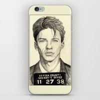 frank sinatra iPhone & iPod Skins featuring Frank Sinatra - Mugshot 1938 by Tim Clary