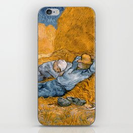 Noon - rest from work by Vincent van Gogh iPhone Skin