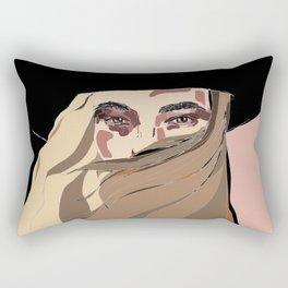 Girl with a Hat Rectangular Pillow