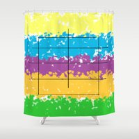 square Shower Curtains featuring Square  by Mahoky