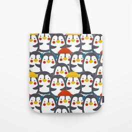 Happy Penguin Family Tote Bag