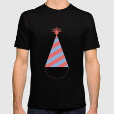 #43 Party Hat Mens Fitted Tee Black MEDIUM