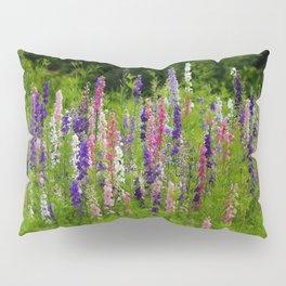 Meadow Larkspur Wildflower Pillow Sham