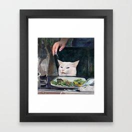 Woman Yelling at Cat Meme-2 Framed Art Print