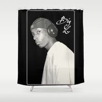 2pac Shower Curtains featuring BIG L / Put It On by Gold Blood