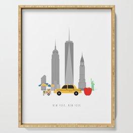 New York City, NYC Skyline Serving Tray