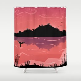 Perfect place for perfect love Shower Curtain