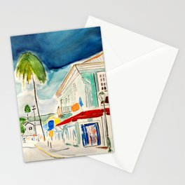 Street in Louisiana Stationery Cards