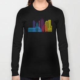 Boston V2 skyline pop Long Sleeve T-shirt