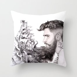 Sailor's Beard Throw Pillow