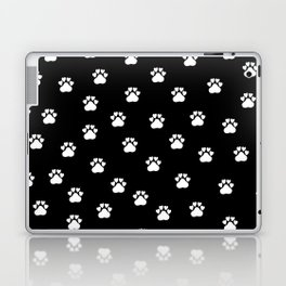 Cat's hand drawn paws in black and white Laptop & iPad Skin