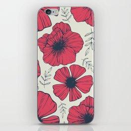 Raspberry Flowers iPhone Skin