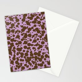 Bubbles in the Batter - Lavender-Chocolate Stationery Cards