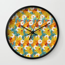 multi flower Wall Clock
