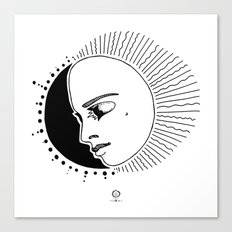 Half Moon Face Canvas Print