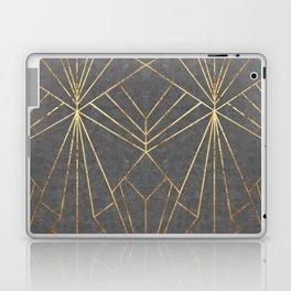 Art Deco in Gold & Grey - Large Scale Laptop & iPad Skin