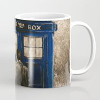 dr who Mugs featuring Dr. Who by Redeemed Ink by - Kagan Masters