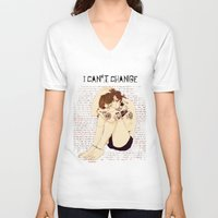 "lyrics V-neck T-shirts featuring "" Lyrics "" by Karu Kara"