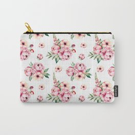 Pink Flower Party Pattern Carry-All Pouch