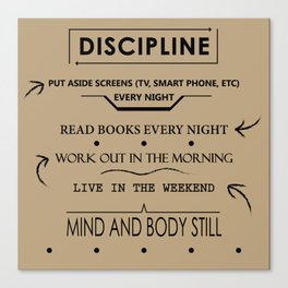 Daily Discipline Canvas Print