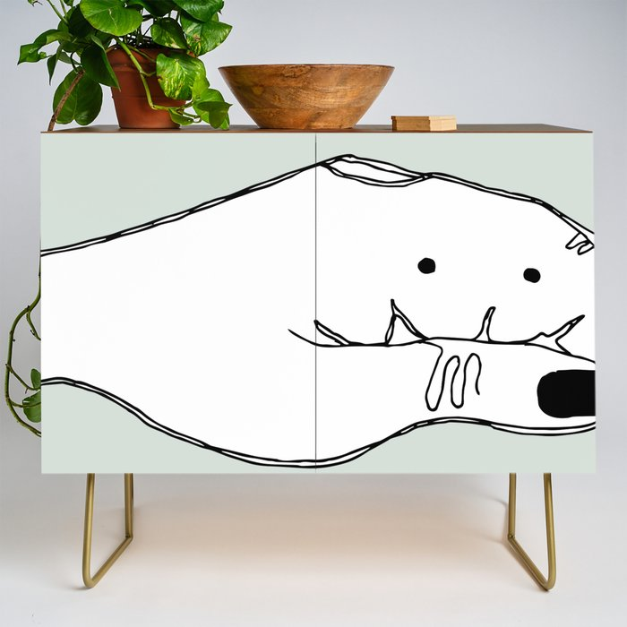 Talk_Less_from_Minimalist_Hand_Collection_Credenza_by_Kirsten_Lila__Gold__Walnut