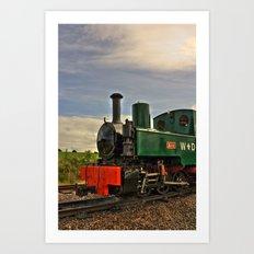 Full steam ahead! Art Print