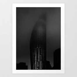 Downtown Toronto Fogfest No 19 Art Print