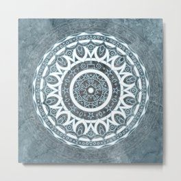 MANDALA ON MARBLE 2 Metal Print