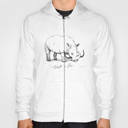 Rhino during Midnight in Paris Hoody