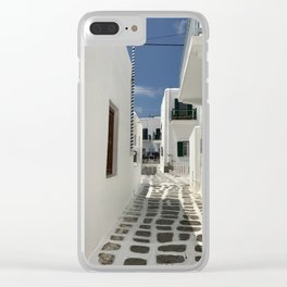 Grecian Alleyway Clear iPhone Case