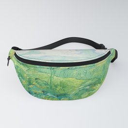 Green Wheat Fields - Auvers, by Vincent van Gogh Fanny Pack